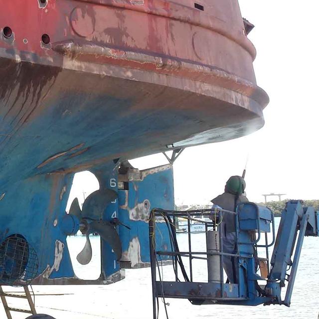 Marine Abrasive Blasting Quill Falcon Australia
