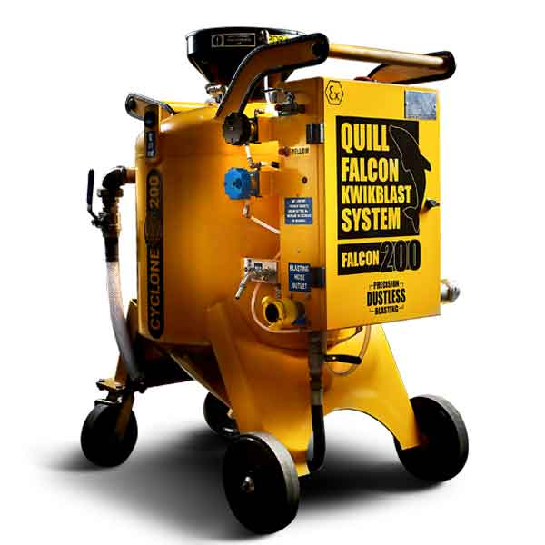 Australian Dustless Blasting Machines Quill Falcon Cyclone 200